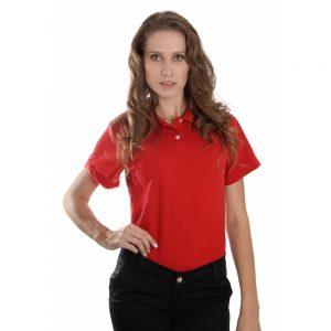 Camisa Polo Básica Feminina
